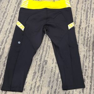 Lululemon luxtreme capris blk and Yellow